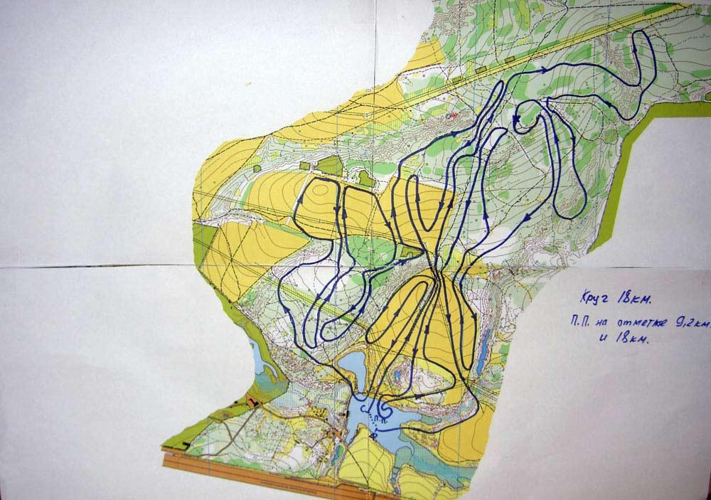 Схема трассы (круг 18км)
