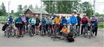 Участники велокросс-похода СК Альфа-Битца