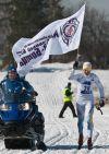 Победитель 42 марафона МВТУ Николай Болотов